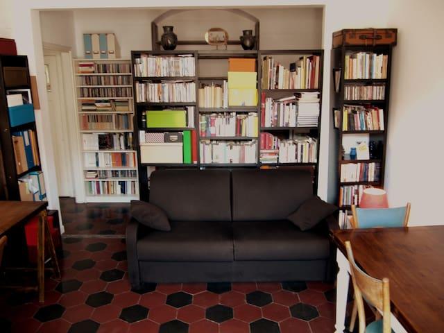 Il divano letto nella sala