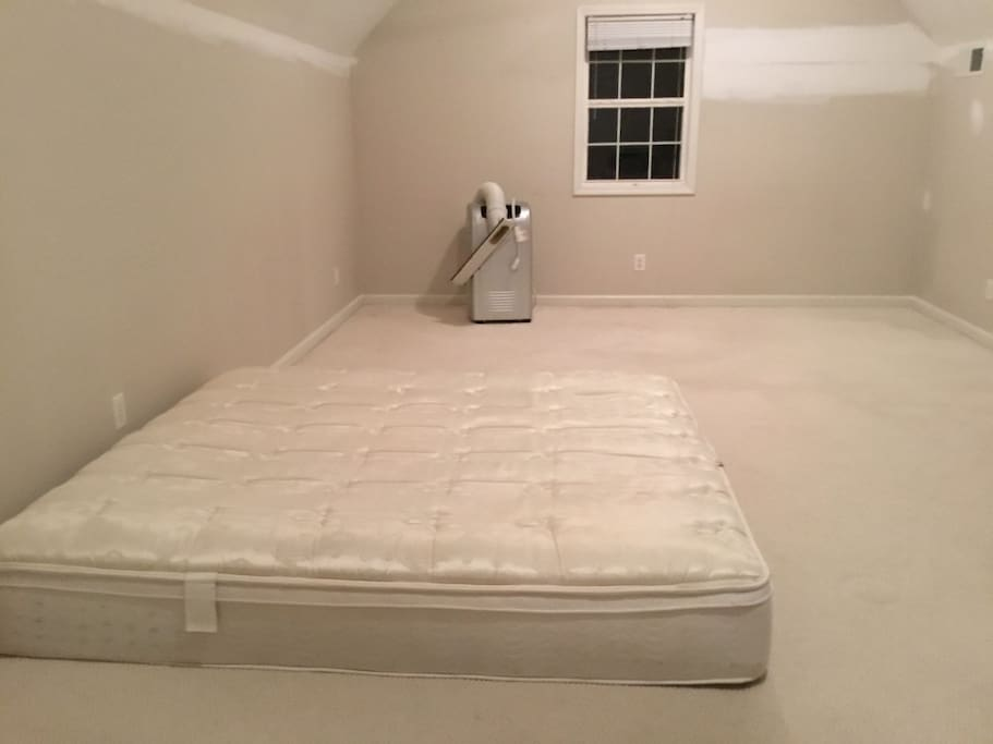 King size mattress and a queen can be added.