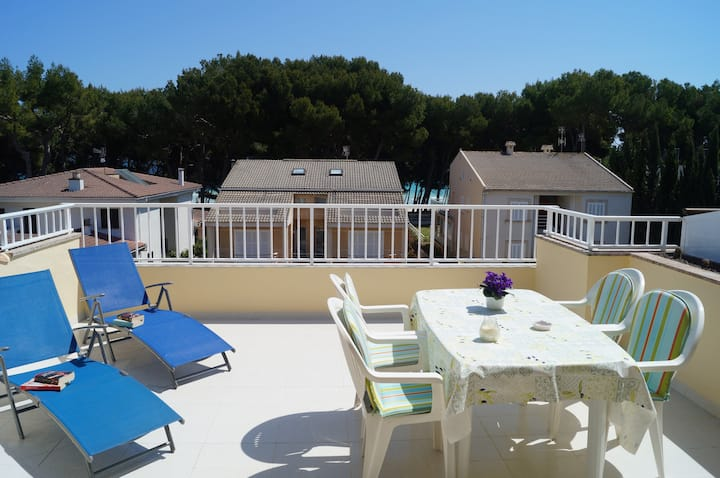 GINESTA II - Penthouse at 50 meters from the beach