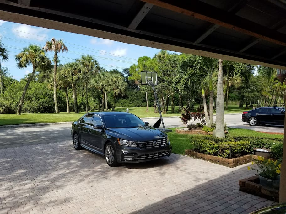 Dedicated guest parking in driveway