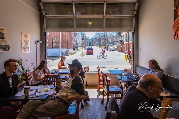 A typical spring afternoon in Wolfville.
