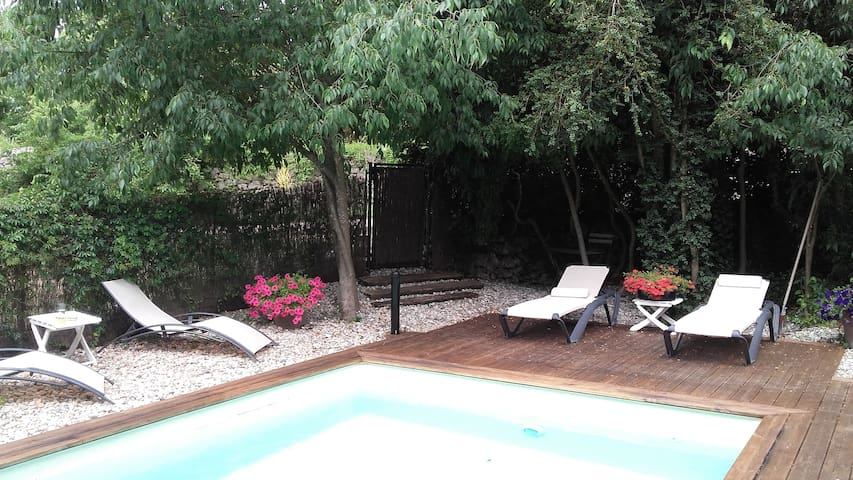 Appartement dans mas en pierre le Montségur - Lussan - Apartament