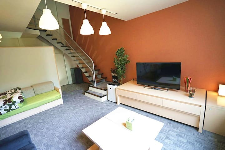 A5025星野TOMAMU度假村內複式公寓50㎡1LDK_6beds&Kitchen&bathtub - Shimukappu - Lägenhet