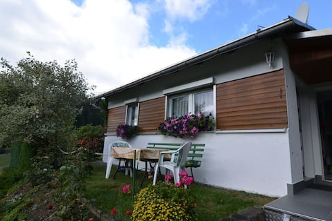 Cosy holiday home in Thuringia on the outskirts of town and the forest