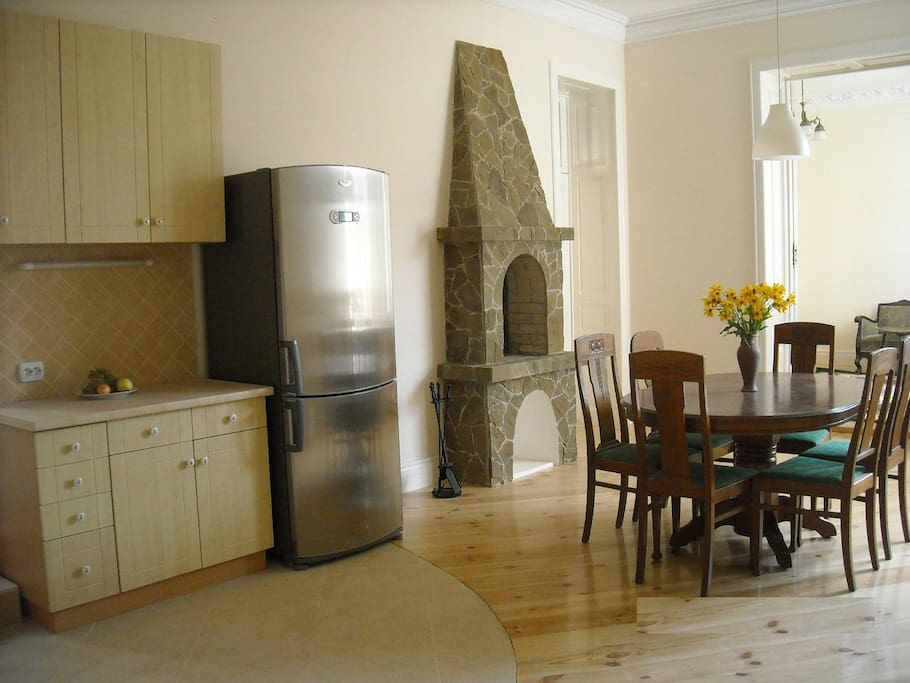 Dining space in the large kitchen area