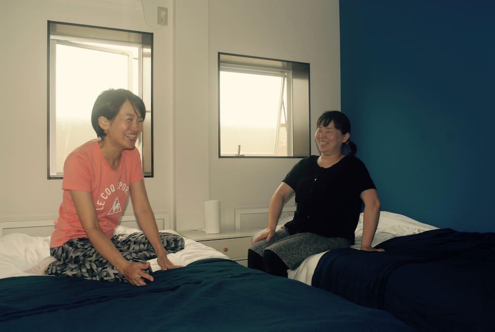 2名用のこじんまりした部屋です。 cozy room for two