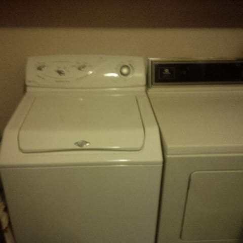 Full size Washer and Dryer to use for $3 per load includes detergent soap and softener