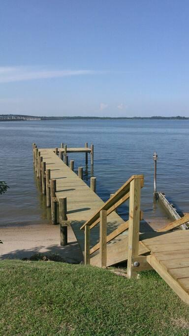 Newly built pier
