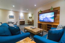Take a break from the beach and warmth outside and chill in our Family Room, watch a movie, play a game or cozy up and read a book.