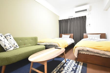【Permitted】Twin B-room nr Tomari port. Free WiFi!