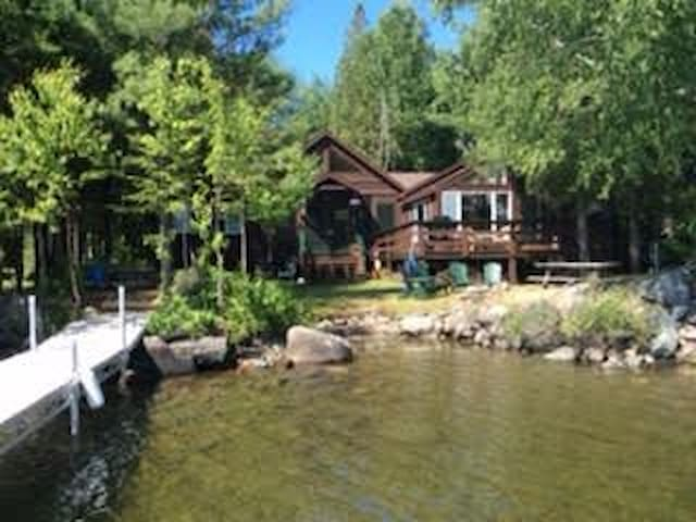 Loon Camps at Waters Edge - Two cute cottages are connected by a screened porch