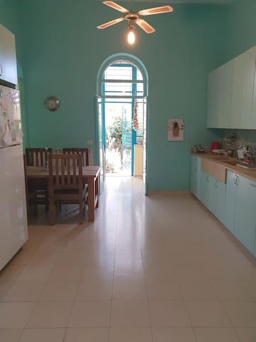 the kitchen and rear door