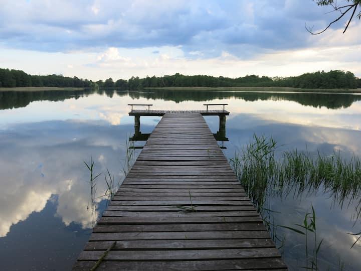 Dom nad jeziorem - Mazury Garbate