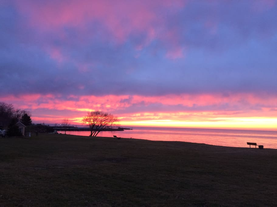 Renowned Lake Erie Sunset. 30 sec. from house.