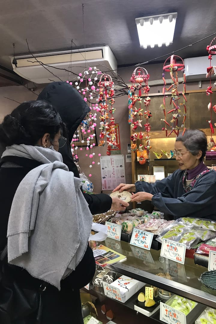 Japanese sweets shop with long history