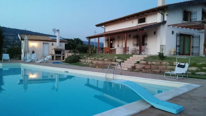 Apartment in countryside villa with pool