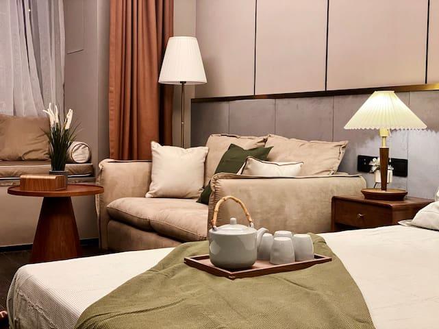 【QueenZ-橄榄绿】无网络电视试营业特惠/北城天街九街五星级酒店式公寓/希尔顿物业
