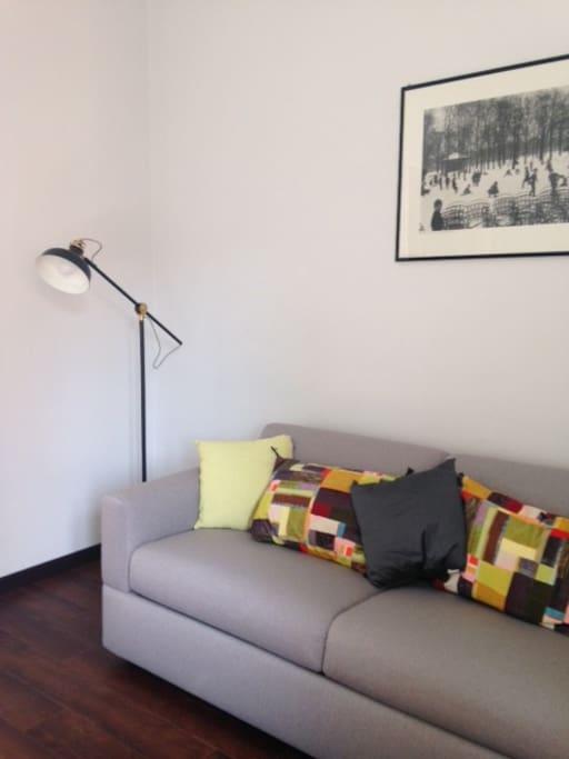 soggiorno, con divano letto matrimoniale