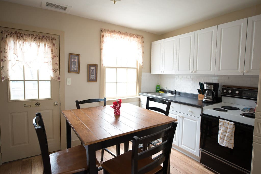 Bright and sunny fully equipped kitchen