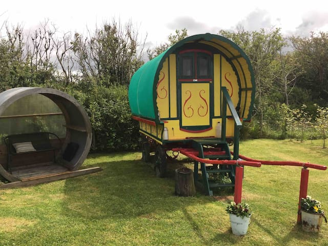 Traditional Gypsy bow top caravan
