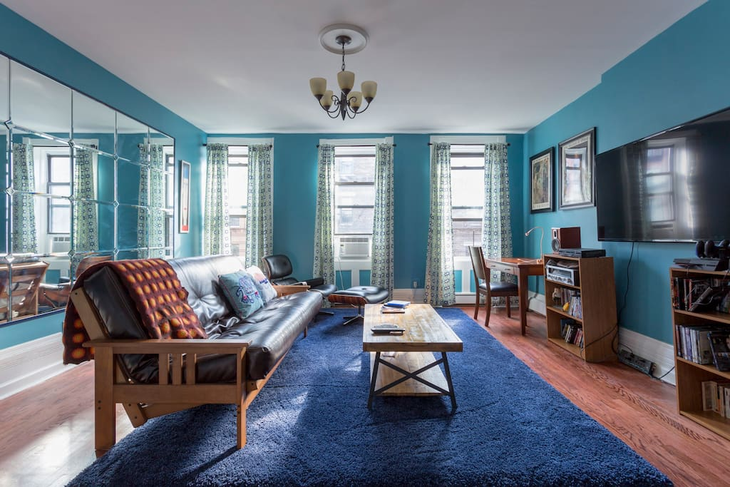 Private blu penthouse 1 br harlem nyc brownstone for Appartamenti new york affitto manhattan