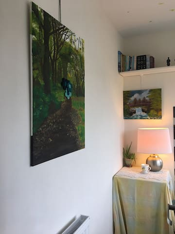 Original oil paintings and books