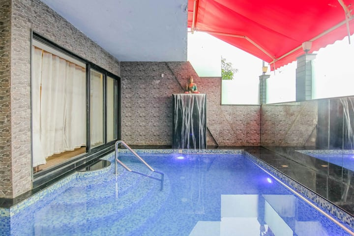 MTDC APPROVED-4BHK-INDOOR PVT  POOL-PARADISE VILLA