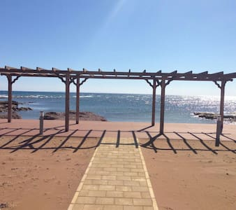 3 bedrooms private pool&sandy beach - Bafra - Leilighet