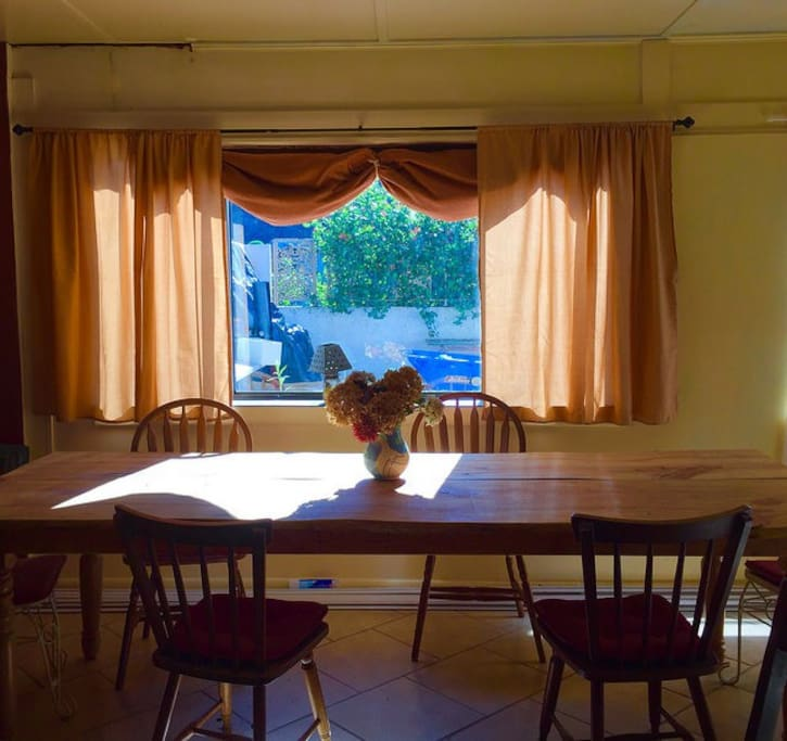 Large dining table seats 12