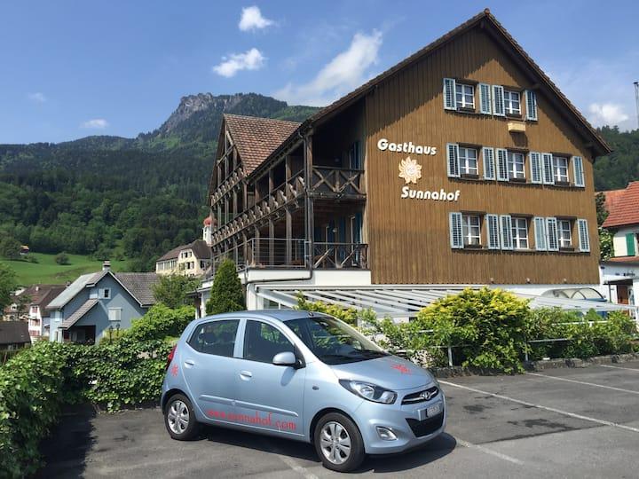 Hotel BZ Sunnahof (6): Limette / Balkon