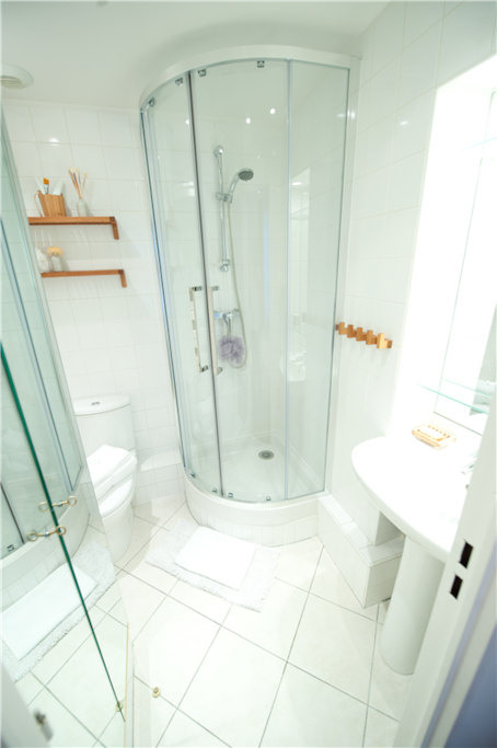 Enjoy your privacy with your own ensuite bathroom with corner shower & WC.
