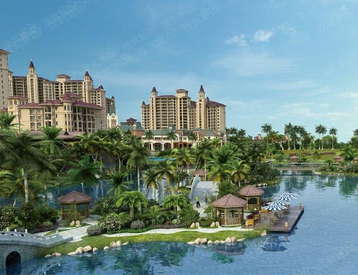 三亚清水湾碧桂园珊瑚宫殿两居室海景家庭套房 免费:游泳池,停车位,步行到海边5分钟