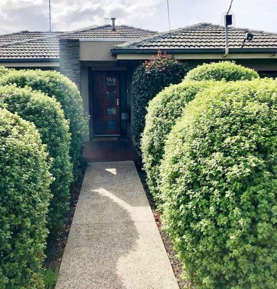 A private path leads to the secluded front door where you will be greeted. I look forward to welcoming you to my home.
