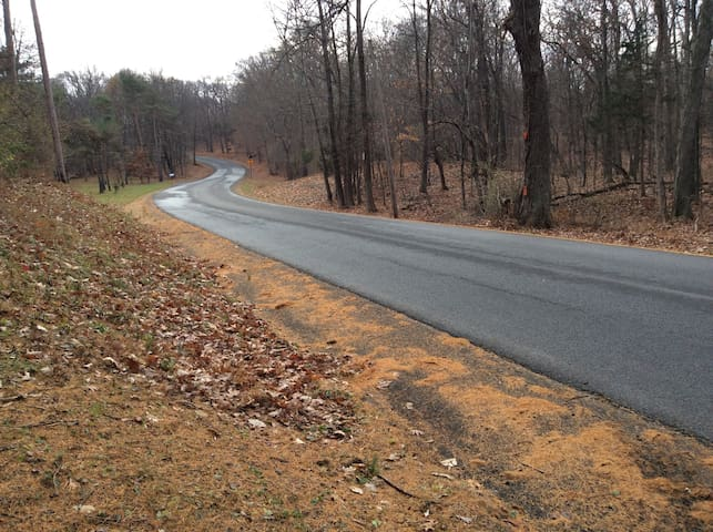 Our home is on a quiet country road -- great for jogging, walking, biking.