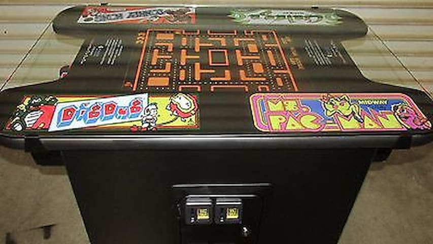 This old-school arcade game has 60 classic favorite games including Pac Man, Ms Pac Man, Donkey Kong, Frogger, Galaga, Space Invaders, Burger Time, DigDug and many more.
