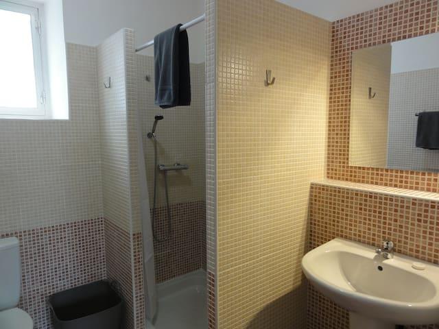 la deuxième salle d'eau (douche)