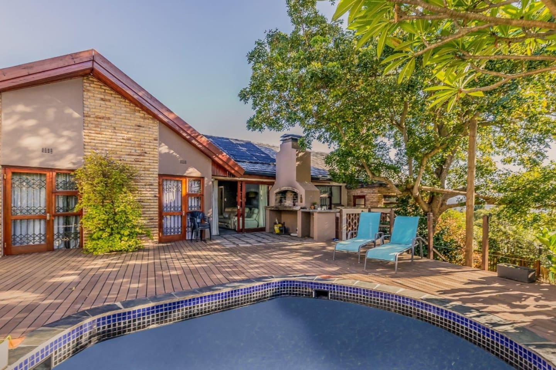 Enjoy a swim and a braai on the deck on warm summer evenings
