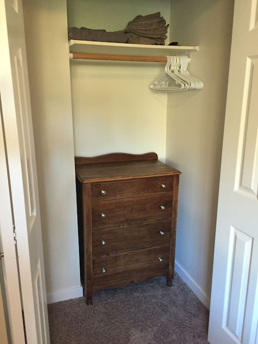Closest with similar dresser in each room.