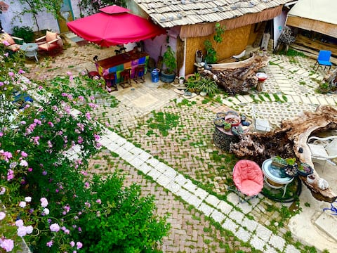 古城可停车4房4卫可做饭-有茶喝-有花园!