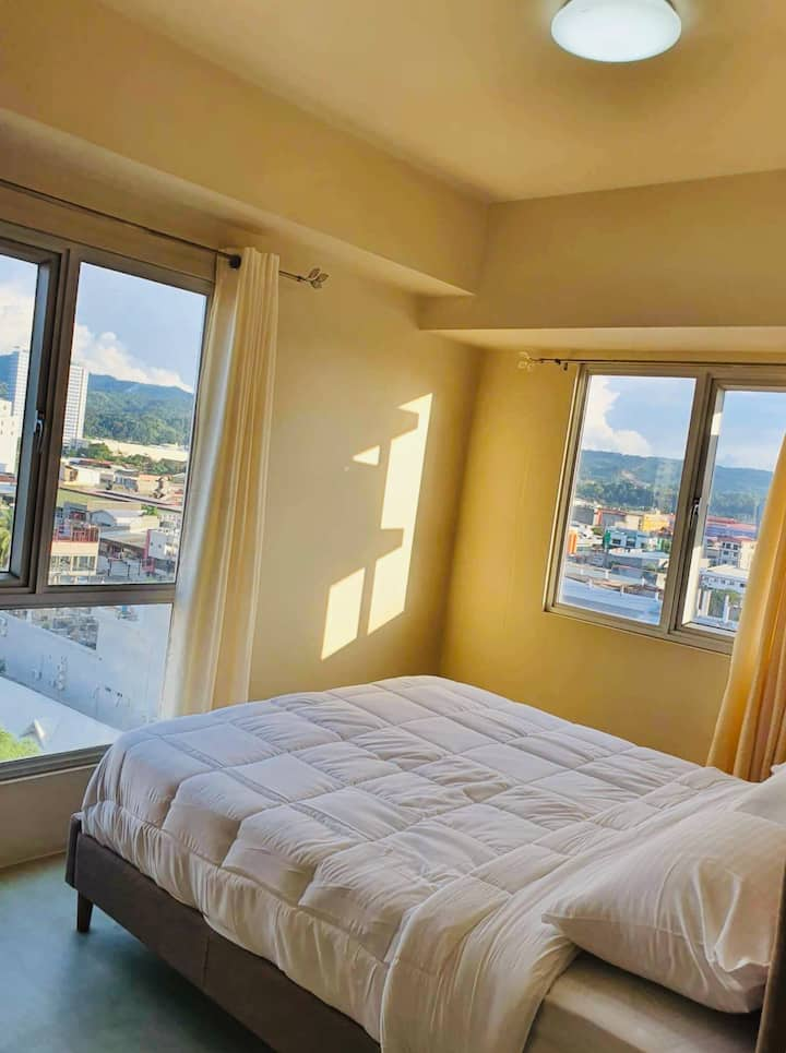 1-Bedroom 4 pax 1 min to Centrio beautful bay view