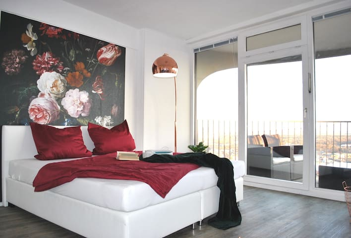 Modern apartment with beautiful view over Augsburg