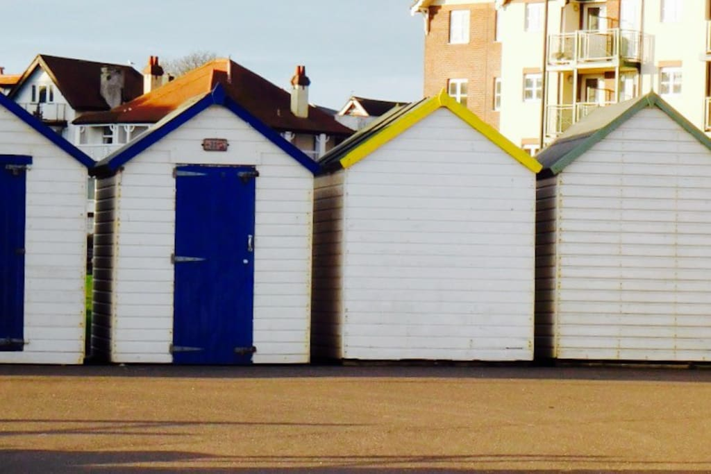 Seaside beach huts giving you that holiday feeling.