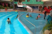 Swimming pool for adults and children, open from 8 am to 10 pm