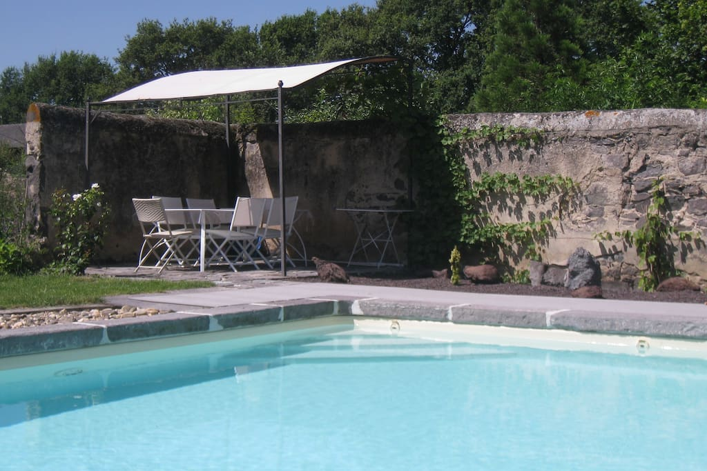 La piscine, sa pergola et son jardin zen