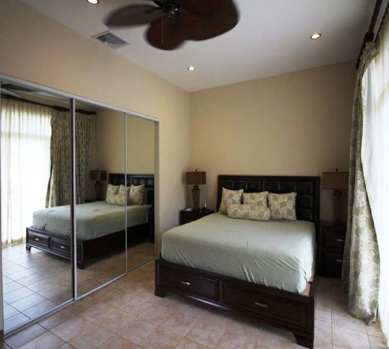 Large closets for those travelers aiming to stay a while in beautiful Costa Rica