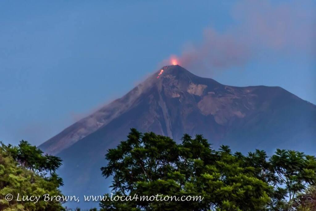 View of Volcán de Fuego