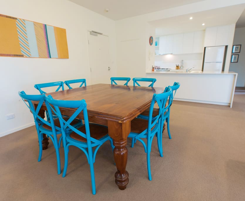 Dining table – looking back towards kitchen.