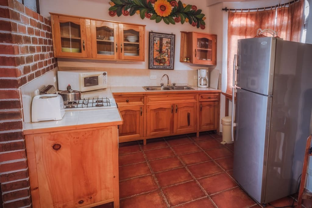 Beautiful kitchen ready to go.  Includes a blender for your Margaritas