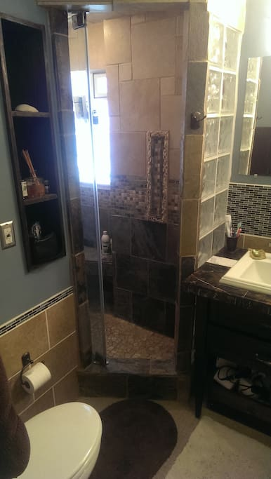 Custom bathroom with steam shower and aromatic oil!!!