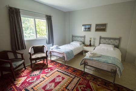 Bedroom 1. The rooms can be arranged with a double or two single beds.